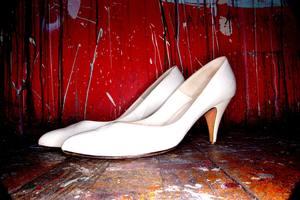 escarpins blancs pour pieds de femme