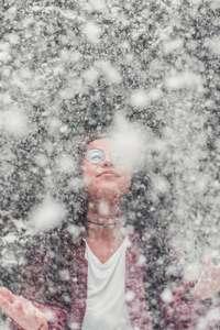 femme dans brouillard e la ménopause